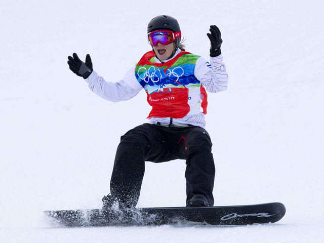 Which Canadian won the first ever Olympic snowboard gold medal?