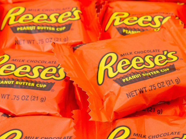It's the unmistakable Reese's Cup (if you're not counting the myriad organic versions now available to you at Whole Foods.)
