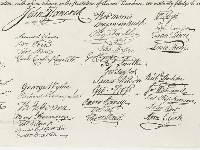 How many people signed the Declaration of Independence?