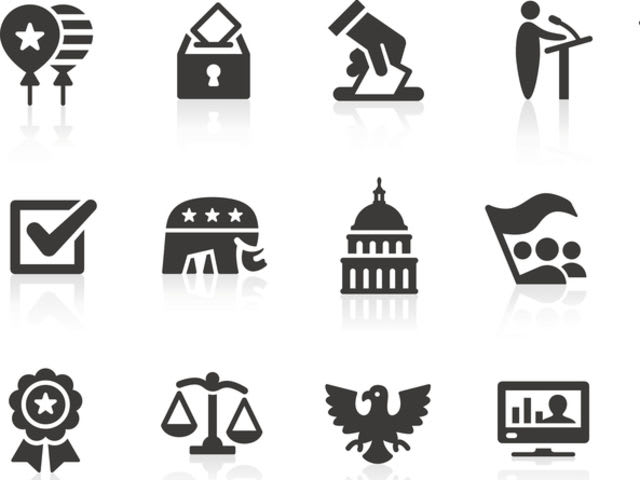 Which symbol represents the Republican party?
