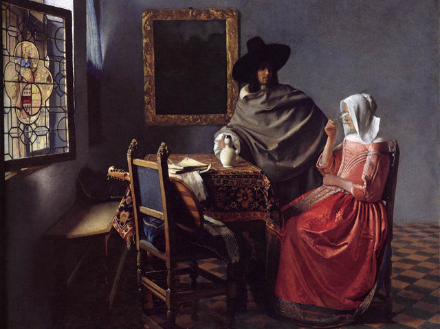 This painting was created by Johannes Vermeer. The other three are by Rembrandt!