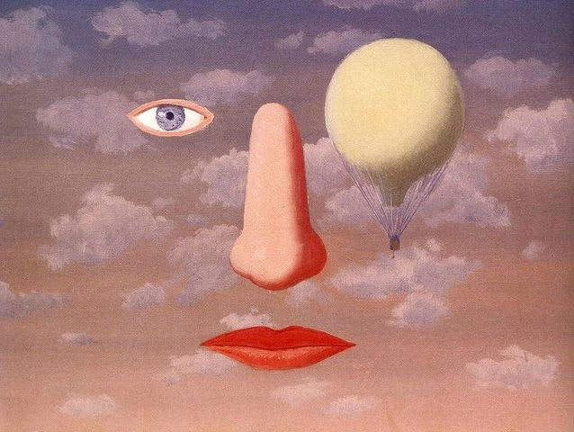 This painting was created by Rene Magritte. The other three are by Salvador Dali!