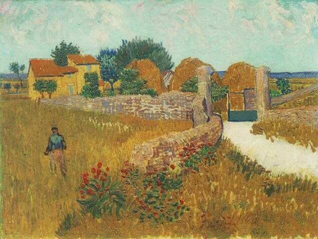 This painting was created by Vincent Van Gogh! The other three are by Gustav Klimt!