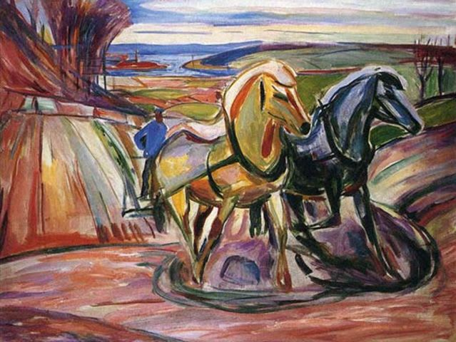 This painting was created by Edvard Munch. The other three were by Vincent Van Gogh!
