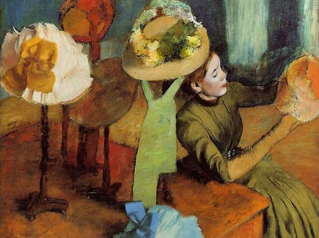 This painting was created by Edgar Degas. The other three are by Norman Rockwell!