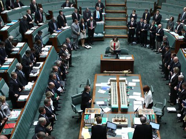 Bush was the first of four presidents to address a joint meeting of Australian Parliament