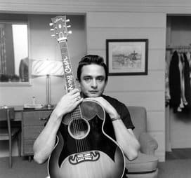 A performance by Johnny Cash