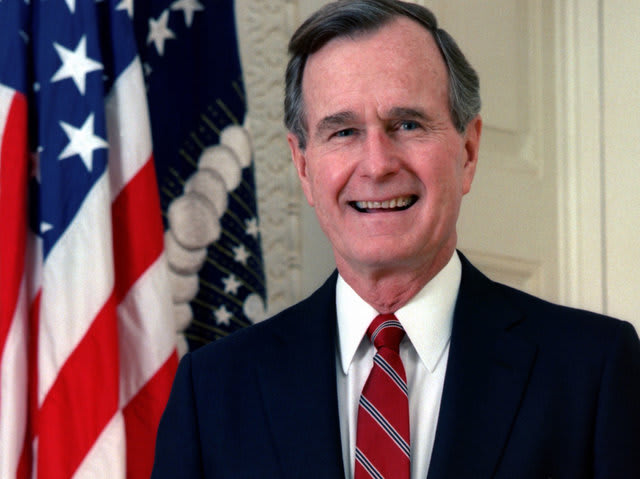 Today in 1992, President George Bush Sr. became the first U.S. president to address who?