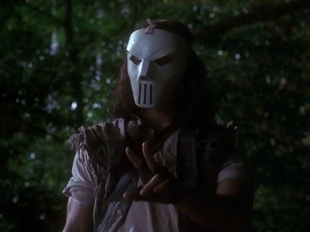 Casey Jones thinks that Raphael is just a _____ in a mask when they first meet.