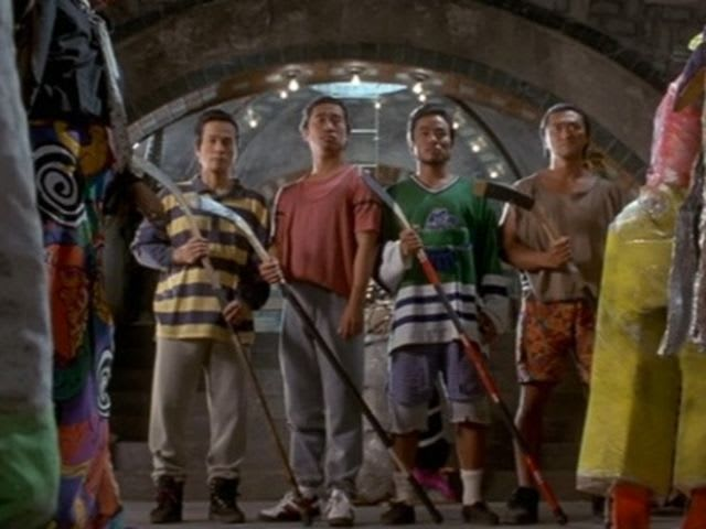 In the present, Casey Jones introduces the ancient Japanese warriors to what sport?