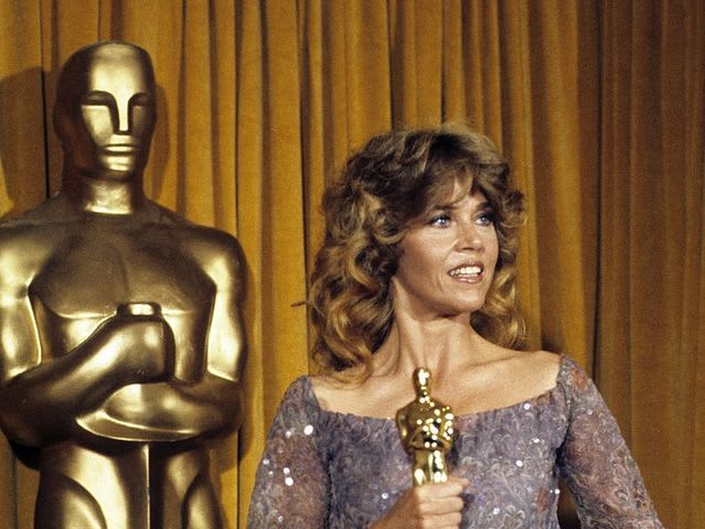 Jane Fonda has been nominated for seven Academy Awards and won two, one for her performance in Klute in 1972 and another for her performance in Coming Home in 1979.