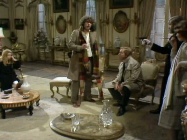 "Romana: ""Do you mean an alien's trying to steal the Mona Lisa?""  The Doctor: ""It is a very pretty painting""."