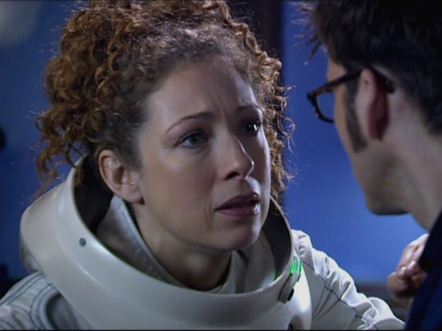 "Professor River Song: ""I trust that man to the end of the Universe. And, actually, we've been""."
