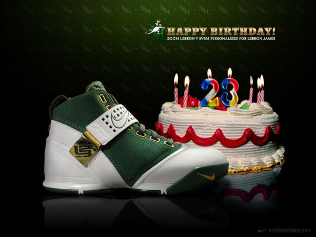 While SVSM player exclusive versions of the first four LeBrons were made, none actually released until the birthday colorway of the Zoom LeBron 5.