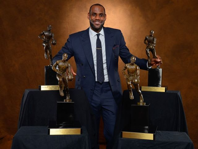Which model did LeBron wear during his first MVP season?