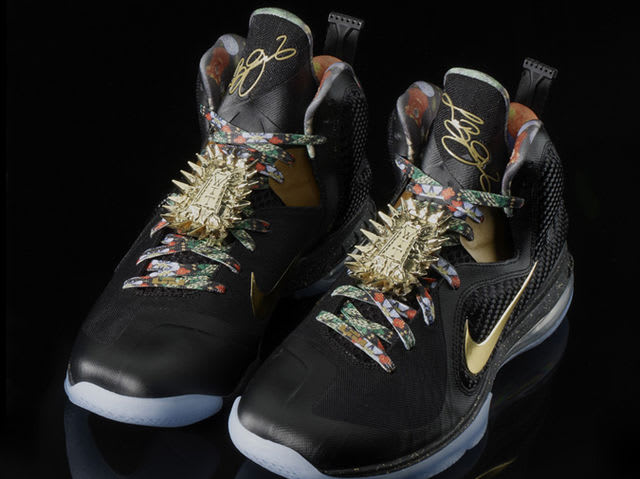 LeBron, Jay Z and Kanye West were presented with special edition LeBron 9s for the Miami stop of the Watch The Throne tour.