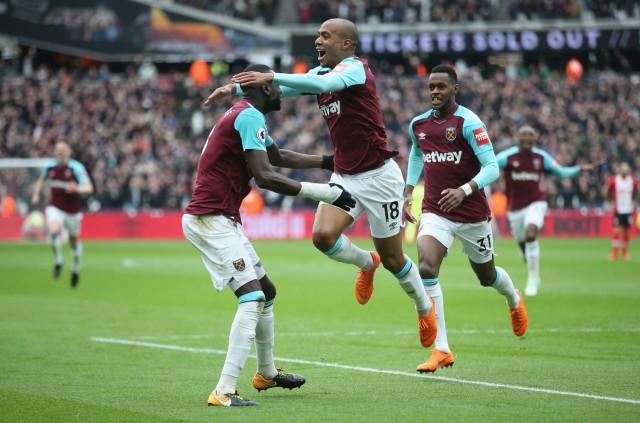 Jugadores del West Ham celebrando un gol