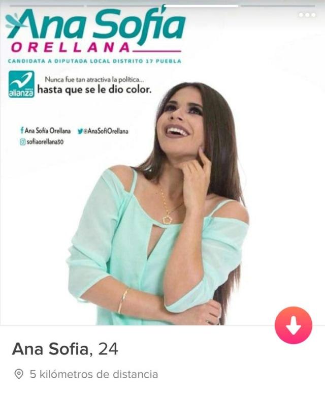 Ana Sofía, la candidata que hace campaña en Tinder y sus fotos