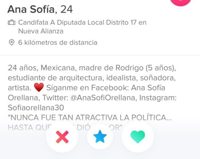 Candidata sensual: Aspirante a diputada en México hace campaña en Tinder
