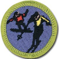 It was actually a pretty sad day for boy scouts when this badge was eliminated in 1999. The BSA lumped it in snowboarding for the Snow Sports badge, making it a lot harder to get a badge for it.