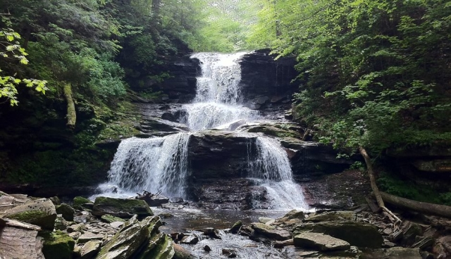 """A representative of Philly's park system said that """"This is the hike that turns first-time hikers into forever hikers."""" Located in Ricketts Glen State Park, the Falls Trail is very popular with both locals and tourists. The hike can be rocky, and sections of the trail can be pretty steep, but the trail features 21--yeah, you read that correctly, 21--various waterfalls. The tallest waterfall is 94 feet and absolutely stunning. You can even camp inside the park and make an entire weekend of your getaway."""