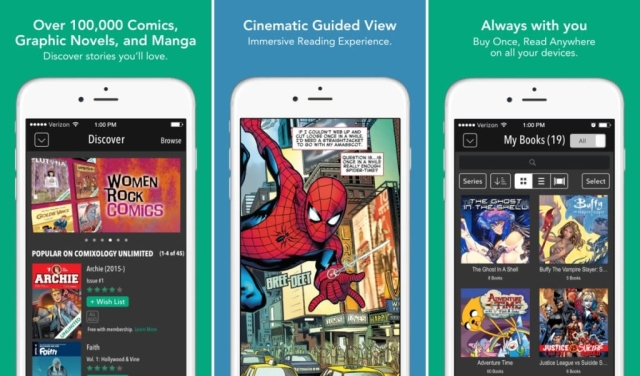 (Free w/In–app purchases)A few years ago we would have told you that you were crazy for using a comic book app like Comixology over buying actual comic books. And while we still say buying actual comics is the best (support local businesses), we've been using Comixology more and more. There selection of books is second to none and it's really easy to find and read you favorite comics, even on a small screen.