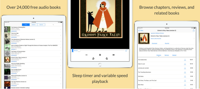 (Free w/Pro Upgrade $1.99)Reading full books on your mobile device isn't a real option, unless you want a serious headache, so going the audiobook route is the best way to go. And what better way to enjoy audio books than when they are free! LibriVox gives users a large library of public-domain audio books from the likes of Mark Twain, Sun Tzu, Dickens and more. Options are available to stream or download your audiobooks to enjoy on your time. The free version works great, but upgrading to the Pro license removes the ads in your audio stream.