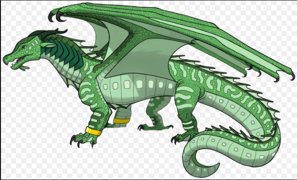 Description: Green, yellow and red scales. Red eyes. Blue claws. Abilities: It's tough scales protect it from the strong blasts of water from a WaterClaw. If you touch their teeth, they can instantly grow vines on them. The vines will either poison your hands, or rap around your body and kill you. They breath Venus Dragon Traps. Queen: Queen Leaf Alliances: They are currently allied with Blood
