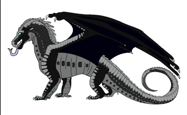 Description: Black, yellow and red scales. Green eyes. Black claws. Abilities: Their scales are tough and are fireproof of the fire of DragonClaws. Their teeth are black and will cast a horrible spell on you if you touch them. The spell is unknown. They breath a spell that makes it turn night immediately. Queen: Queen Umbr Alliances: They are currently allied with Blood