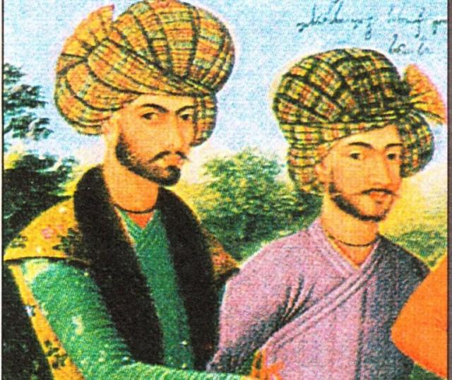 არჩილ II და გივი ამილახვარი, სპარსული მინიატურა