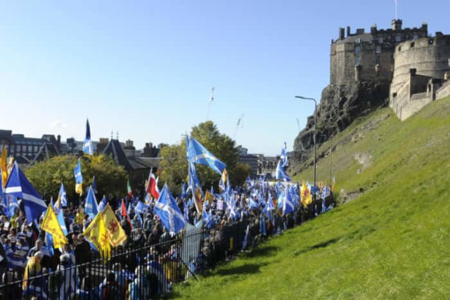 Edinburgh was home to one of the largest ever independent marches on Sunday with tens of thousands descending on the Capital.