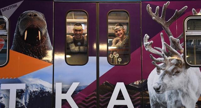 Metropolitana di Jakutsk - festa per l'inaugurazione dei nuovi treni