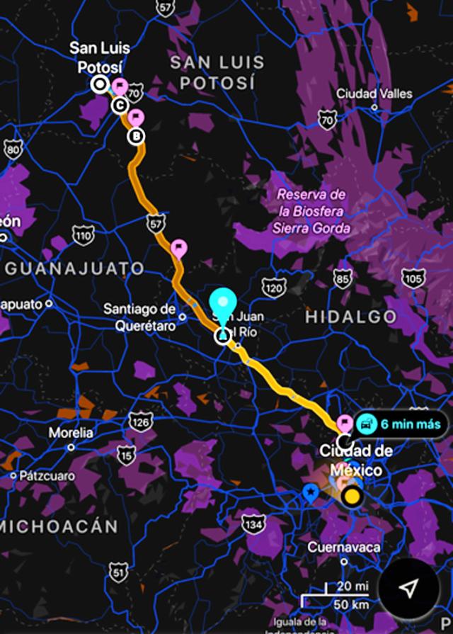 Éste es el corredor que va de Ciudad de México a San Luis Potosí.