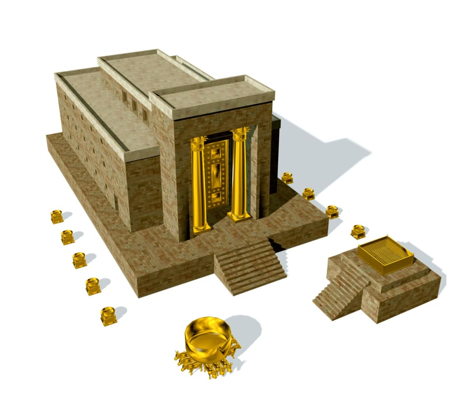 The First Temple, built by King Solomon, was  destroyed by the Babylonians on the 9th of Av  in either 421 BCE or 423 BCE (opinions on the exact secular year differ). The destruction was led by Nebuchadnezzar II, who attacked and besieged Jerusalem. It is estimated that at least 100,000 Jews died during this short time.Nebuchadnezzar's army plundered the Temple and then set fire it on fire. The building burned for 24 hours until just after midday on the 10th of Av. The city of Jerusalem was also destroyed by the Babylonian army. Many of the High Priests serving the Temple, as well as prominent figures were also murdered by the Babylonians.Gold, silver and many of the holy vessels used in the Temple were taken to Babylon. At least 100,000 Jews were massacred and many remaining Jews were forced into exile in Babylon, which is present day Iraq. This exile lasted 70 years, and brought an end to the autonomous rule of the Jewish people over Israel.