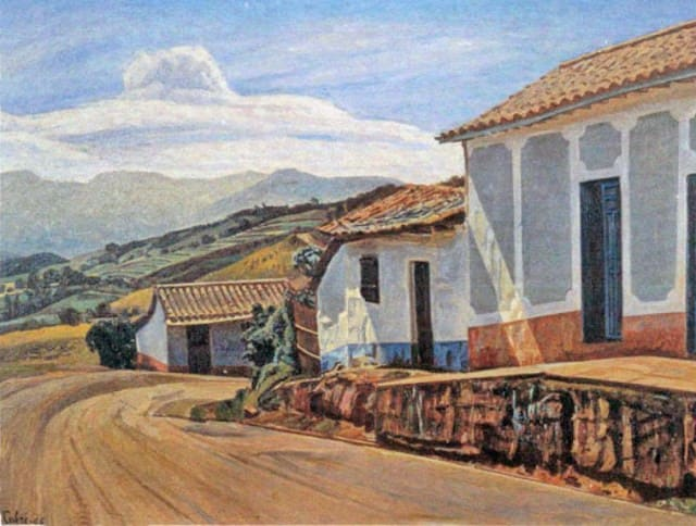 En 1942 desarrolló su breve etapa de los paisajes andinos.