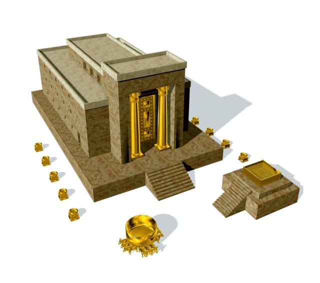 De Eerste Tempel, gebouwd door koning Salomo, werd verwoest door de Babyloniërs op 9 Av in 421 BCE of 423 BCE (de meningen over het exacte seculiere jaar verschillen).  De vernietiging werd geleid door Nebukadnezar II, die Jeruzalem aanviel en belegerde.  Naar schatting stierven in deze korte tijd minstens 100.000 Joden. Het leger van Nebukadnezar plunderde de tempel en stak hem vervolgens in brand.  Het gebouw brandde 24 uur lang tot net na de middag op 10 Av.  De stad Jeruzalem werd ook verwoest door het Babylonische leger.  Veel van de hogepriesters die de tempel dienden, evenals prominente figuren, werden ook vermoord door de Babyloniërs. Goud, zilver en veel van de heilige vaten die in de tempel werden gebruikt, werden naar Babylon gebracht.  Minstens 100.000 Joden werden afgeslacht en veel overgebleven Joden werden gedwongen in ballingschap te gaan in Babylon, het huidige Irak.