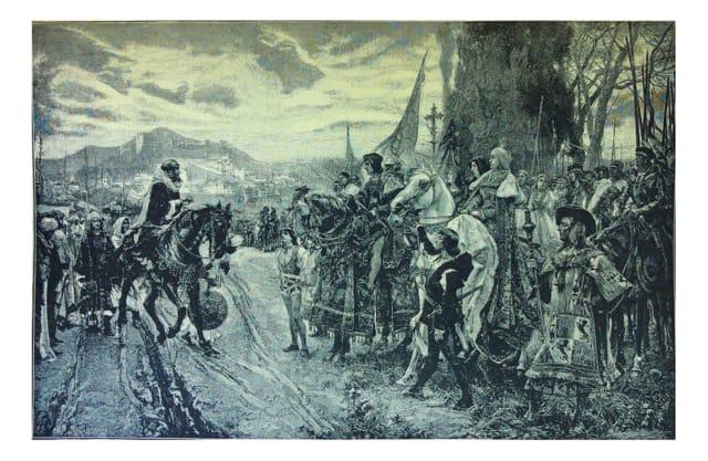 """Op 31 juli 1492 (9 Av van dat jaar) moesten praktiserende joden die in Spanje woonden hun definitieve beslissing nemen: bekeren tot het christendom of het land verlaten. Als conversos - bekeerde joden - bleven en hun geloof in het geheim bleven houden, maar werden ontdekt door leden van de Inquisitie of werden blootgesteld door buren, zouden ze op brute wijze worden gemarteld om hun """"zonde"""" toe te geven en later worden ze verbrand, wat allemaal werd bevolen door de kerk. In maart 1492 stelden Ferdinand en Isabella het Alhambra-decreet in , ook wel bekend als het Edict van Uitzetting, dat de verdrijving van praktiserende Joden uit het land beval, variërend tussen 45.000 en 200.000. Maar bijna 100 jaar eerder, in 1391, had meer dan de helft van de Spaanse Joden zich tot het christendom bekeerd als gevolg van religieuze vervolging en pogroms.Het edict van uitzetting uit 1492 werd voornamelijk ingesteld om de invloed van praktiserende joden op de grote converso-bevolking van Spanje te elimineren en ervoor te zorgen dat ze niet terugvielen naar het jodendom."""