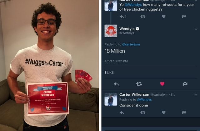 Congratulations young man!
