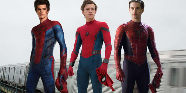 Sony's Tobey Maguire and Andrew Garfield accompany the Marvel Cinematic Universe's youngster, Tom Holland.
