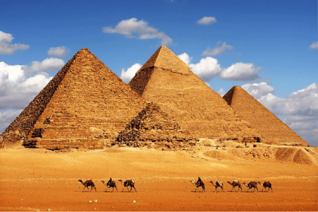 The Giza Pyramids, built to endure an eternity, are some of the world's greatest ancient structures. The mystery surrounding their structure just adds to their beauty and allure. The Great Pyramid is one of the Seven Wonders of the World.