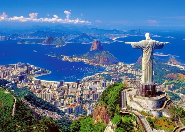 Famed for its Christ the Redeemer statue, Copacabana beach, and sprawling favelas, bustling Rio is a photographer's dream. The seaside city is also known for its Carnival festival, featuring samba dancers with flamboyant costumes and parade floats.