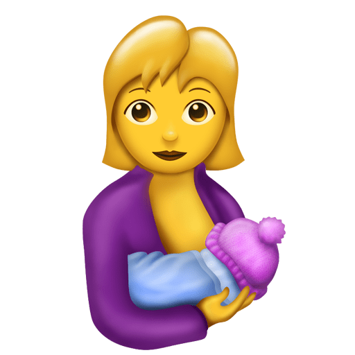 The jacket's a little 80s, but breastfeeding moms seem excited about this emoji that'll free up their time and energy a bit!
