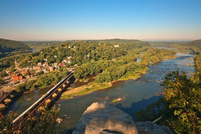 Just 90 minutes outside D.C., you can surround yourself with nature at the Maryland Heights Trail in the Harpers Ferry National Historical Park. We recommend going in the fall, when the area burns with red and gold. You'll just need a quick ride on the Orange MARC train and a short walk over the Potomac river before you'll reach this challenging--but rewarding--hike.