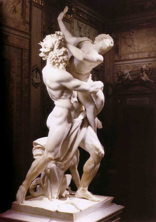 Escultura que ilustra el rapto de Perséfone