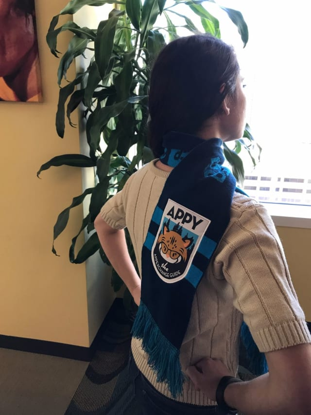 """Hands on hips and repeat after us, """"To Dreamforce and beyond!"""" Wear this while conquering the sessions, whizzing through networking events, and powering up parties. (Do you feel like a superhero yet?)."""