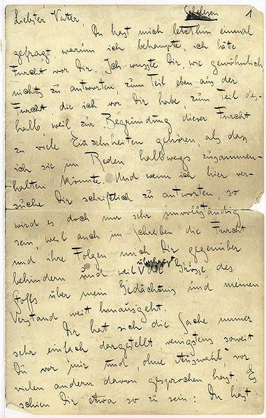La carta decidió escribirla en noviembre de 1919, cuando tenía 36 años.