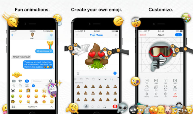 ($1.99)That terrible emoji movie aside, everyone loves using emoji. Chances are you have used a few today while texting with friends and family. If you love using emoji's, then Moji Maker if the perfect app for you. The app is a construction toolkit that lets you create and share your very own emoji. There are tons of shapes and objects included so you can create your perfect emoji. The app also has a built-in messaging app so you can share creations with friends, or you can save them as images to share in your conversations outside the app.
