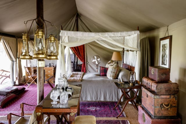 The intimate 1920's-style explorer's camp is permeated by a sense of nostalgic adventure.