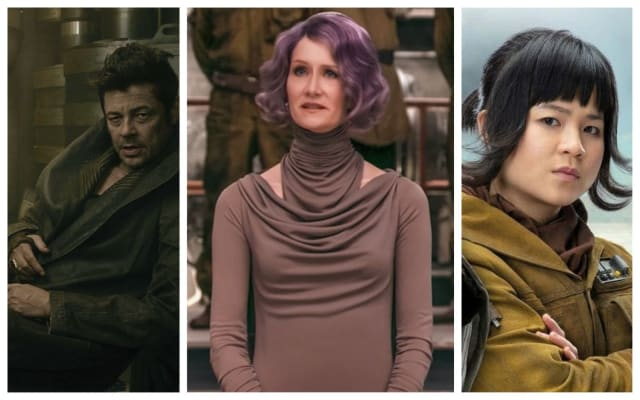 Veteran actors Benicio Del Toro and Laura Dern join the STAR WARS universe with newcomer Kelly Marie Tran.