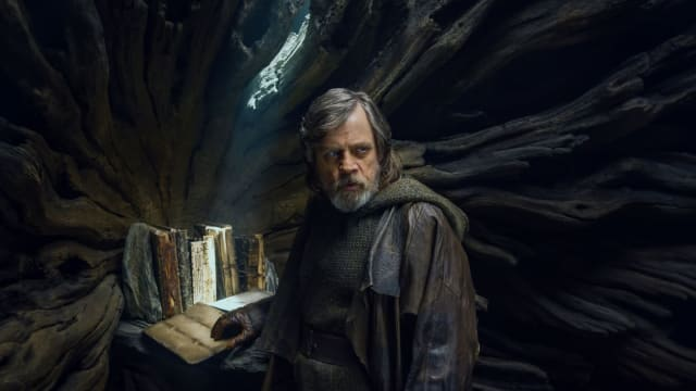 Hamill masterfully conveys what the past 35 years have done to Skywalker's soul.